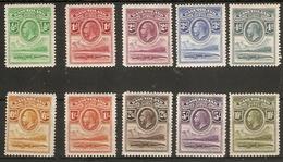 BASUTOLAND 1933 SET SG 1/10 MOUNTED MINT Cat £325 - 1933-1964 Kronenkolonie