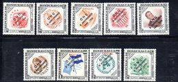 Y2209 - HONDURAS 1956 , Posta Aerea Serie N. 217/225  ***  MNH X° ONU - Honduras