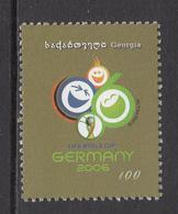 2005 Georgia World Cup Football Germany Complete Set Of  1 MNH - Georgia