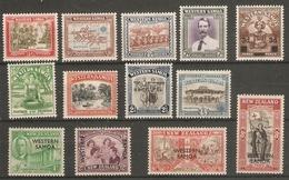 SAMOA 1939 - 1946 SETS SG 195/198;199; 200/205; 215/218 UNMOUNTED MINT/LIGHTLY MOUNTED MINT Cat £28 - Samoa