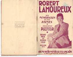 40 60 ROBERT LAMOUREUX PARTITION MONOLOGUES ET POËMES PRIX DU DISQUE 1950 RECUEIL N°1 1951 - Autres