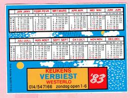 Sticker - Jaarkalender 1983 - Keukens VERBIEST - Westerlo - Autocollants