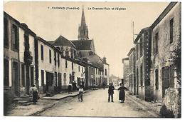 CUGAND - La Grande Rue Et L'Eglise - Zonder Classificatie