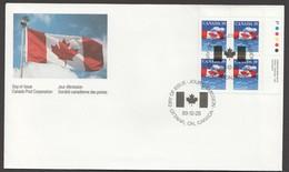 1989  39¢ Flag Over Clouds  Sc 1166  UR Plate Block - Omslagen Van De Eerste Dagen (FDC)