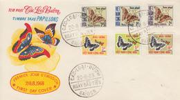 Enveloppe  FDC   1er  Jour   VIETNAM    Timbres   Taxe    PAPILLONS    1968 - Vietnam