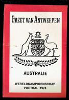 Sticker - Wereldkampioenschap Voetbal 1974 - G.V.A. - AUSTRALIE - Autocollants