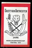 Sticker - Wereldkampioenschap Voetbal 1974 - G.V.A. - ZAIRE - Autocollants