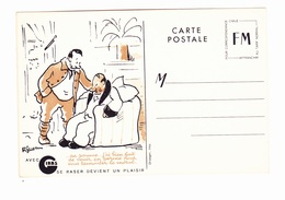 Carte En Franchise Militaire - 1939 1945 - Publicitaire - Gibbs - Se Raser Devient Un Plaisir - Perm - Military Service Stampless