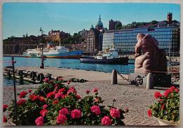 """STOCKHOLM - Sverige - Stadsgarden Och Carl Milles """"Sjoguden"""" - Statue - Sculpture  VG - Svezia"""