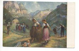 KÜNSTLER AK E. Rittmeyer HEUERNTE 1894 - Cultures