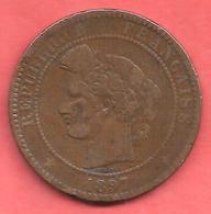 10 Centimes , CERES , Bronze , 1897 A , N° F # 135.44 - D. 10 Centimes