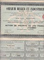 (Tapp 6)5 Titres Omnium Minier Et Industriel1909N= 13 - Aandelen