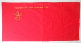 Ex YUGOSLAVIA - Original Vintage COMMUNIST FLAG * Large Size * Drapeau Flagge Bandiera Croatia Slovenia Bosnia Macedonia - Flags