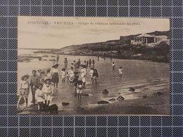 9134) Portugal Ericeira Grupo De Crianças Brincando Na Praia Ed. Angelo Augusto Do Carmo - Lisboa