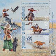 H01 Kyrgyzstan 2017 Mi# 69-71 Traditional Hunting Postfrisch ** MNH - Kirgisistan