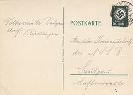 POSTKARTE 10.8.42 / Timbre YT 96 - 6p Vert Foncé - Germany