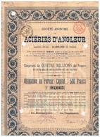 Titre Ancien - Société Anonyme Des Aciéries D'Angleur - Titre De 1894 - - Industrie