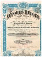 Action Ancienne - Autobus Belges - Titre De 1923 - - Transports