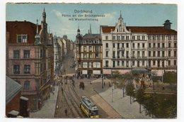 Allemagne--DORTMUND--1924-- Partie An Der Bruckstrasse Mit Westenheliweg  (petite Animation, Tramway) - Dortmund