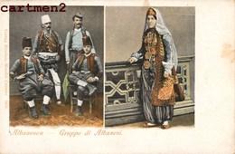 ALBANIE ALBANIA ALBANESEN GRUPPO DI ALBANESI COSTUME ETHNIC ALBANESE WOMAN GIRL COSTUMI - Albania
