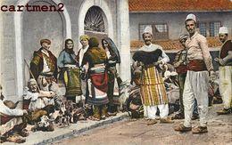 ALBANIE ALBANIA ALBANESEN GRUPPO DI ALBANESI COSTUME ETHNIC ALBANESE COSTUMI TURQUE TURKEY - Albania
