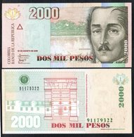 COLOMBIA - 2009- DOS PESOS  ( $ 2000 ) - UNCIRCULATED. CONDITION 9/10 - Colombie