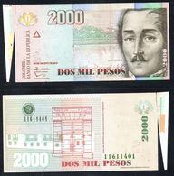 COLOMBIA - 2013- DOS PESOS  ( $ 2000 ) - UNCIRCULATED. CONDITION 9/10- ERROR - Colombie