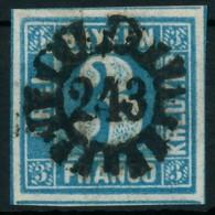 BAYERN QUADRATE Nr 2II GMR 243 Zentrisch Gestempelt X87FFF6 - Bavaria