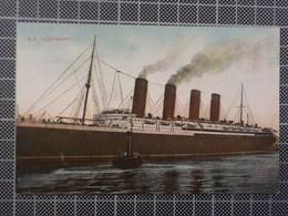 9166) Portugal Cruiser Steamer Paquebot SS LUSITANIA - Paquebots
