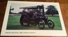 Fowler Tractor No. 15625 'Crimson Rambler' - Postcards