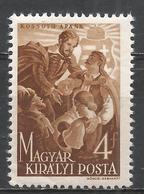 Hungary 1944. Scott #621 (M) Louis (Lajos) Kossuth (1802-94) With Family * - Neufs