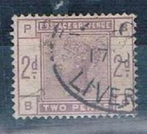 GROSSBRITANNIEN GRANDE BRETAGNE GB 1883 VICTORIA 2D. LILAC SG 189 SC 100 MI 74 YT 78 - 1840-1901 (Viktoria)