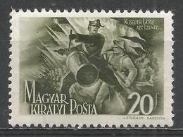 Hungary 1944. Scott #622 (M) Louis (Lajos) Kossuth (1802-94), Honvéd Drummer * - Neufs