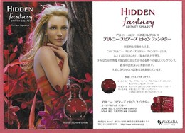 F- Carte BRITNEY .SPEARS - Hidden Fantaisy   - Japon - Perfume Card - Perfume Cards