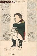 CARICATURE NAPOLEON BONAPARTE ILLUSTRATEUR W. JOACHIM DESSIN HISTOIRE CACHET TIMBRE MACON 1900 - Künstlerkarten
