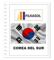 Suplemento Filkasol Corea Del Sur 2018 - Ilustrado Para Album 15 Anillas - Pre-Impresas
