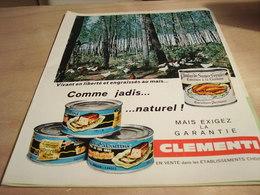ANCIENNE PUBLICITE GALANTINE COMME JADIS DE CLEMENTI 1965 - Affiches