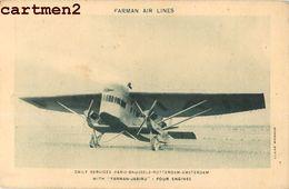 FARMAN AIR-LINES PARIS BRUSSELS  ROTTERDAM AMSTERDAM JABIRU AVIATION CIVILE AEROPORT DU BOURGET - 1919-1938: Entre Guerres
