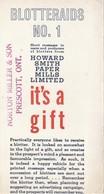 """Blotteraids No. 1 Norton Miller & Son, Prescott,Ont.    4"""" X 7""""  10 Cm X 17.5 Cm - Stationeries (flat Articles)"""