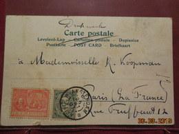 Carte De 1907 A Destination De Paris - Brieven En Documenten