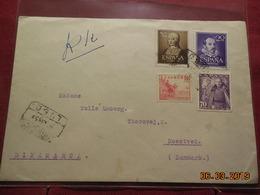 Lettre De 1951 A Destination De Noestved (danemark) - 1931-Oggi: 2. Rep. - ... Juan Carlos I