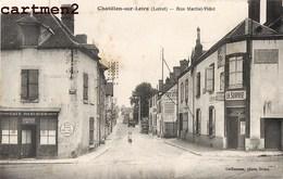 CHATILLON-SUR-LOIRE RUE MARTIAL-VIDET DEVANTURE LA SURPRISE CAFE PARISIEN 45 LOIRET - Chatillon Sur Loire