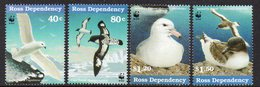 ROSS DEPENDENCY, 1997 SEABIRDS WITH WWF LOGO 4 MNH - Ross Dependency (New Zealand)