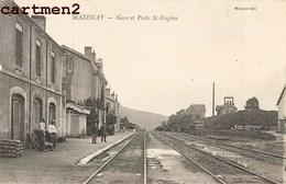 MAZENAY GARE ET PUITS SAINT-EUGENE STATION BAHNHOF 71 - Frankreich