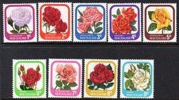 NEW ZEALAND, 1975/79 GARDEN ROSES 9 MNH - New Zealand