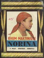 Etiquette (16 X 12) Rhum Martinique Norina - P.Pellet -Spiritueux - Bonneville (74) - Rhum