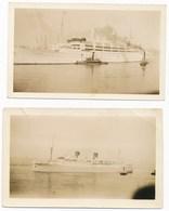 Ocean Liner Kungsholm, 2 Vintage Snapshots - Boats