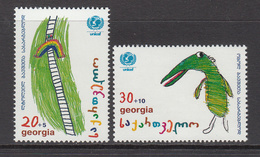 1996 Georgia UNICEF Semi-postals  Complete Set Of 2MNH - Georgia
