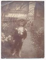 Child In Garden, Vintage Snapshot, Probably 1890's - Photographs