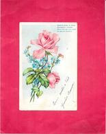 CPA COLORISEE DOS SIMPLE  FANTAISIE - Modeste Gerbe De Fleurs............. Ne Saurait M'oublier  - BES1 - - Fantasia